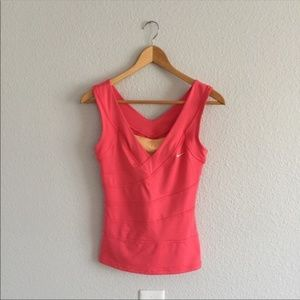 Nike Pink Coral Dri Fit Tank Top Fitted